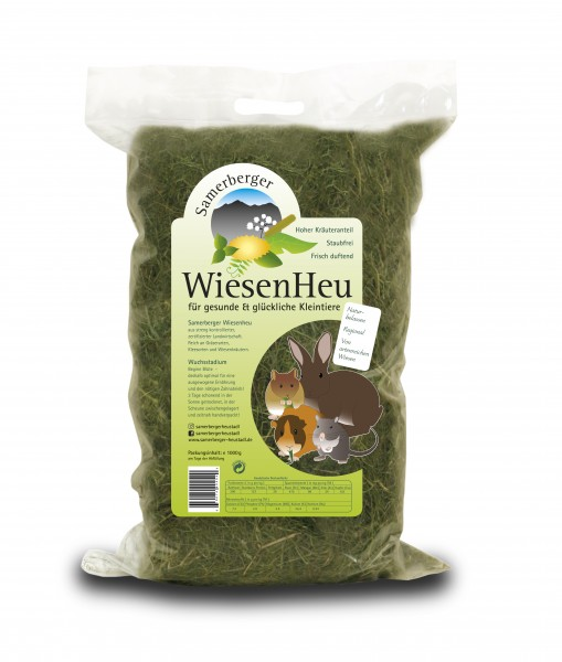 Samerberger Wiesenheu im praktischen 1kg Beutel