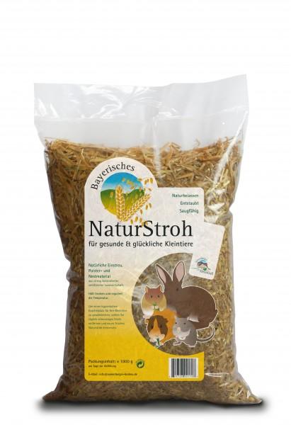 Bayerisches NaturStroh im praktischen 1kg Beutel